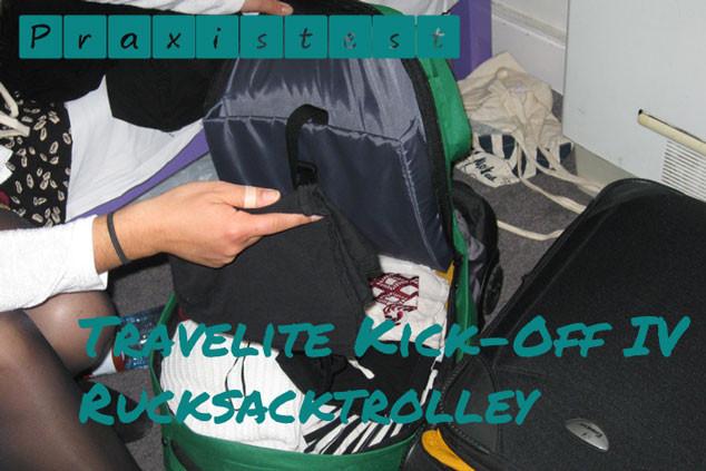 Der Handgepäck Test des Travelite Kick-off IV Rucksacktrolley