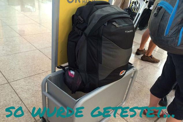 Handgepäcktest für Billigflieger 2014: So wurde getestet