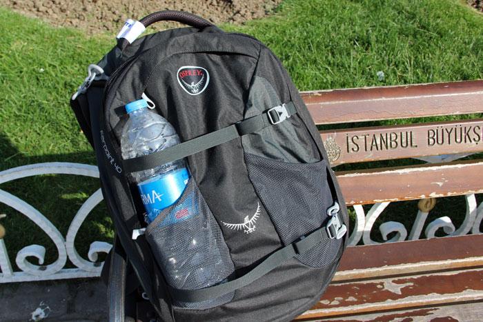 Der Osprey Farpoint 40 ist einer der wenigen Handgepäck-Rucksäcke, die sich auch als Tagesrucksack eignen.