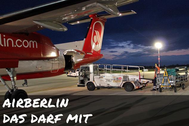 Air Berlin: Das darf (NICHT) ins Handgepäck!
