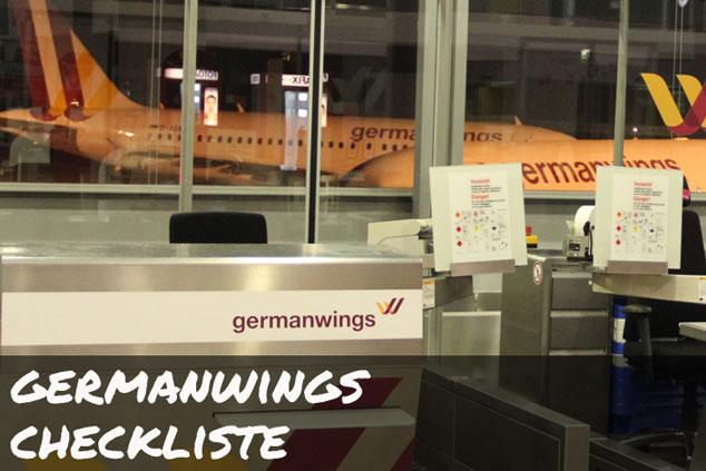 Germanwings: Die ULTIMATIVE Checkliste für das Handgepäck!