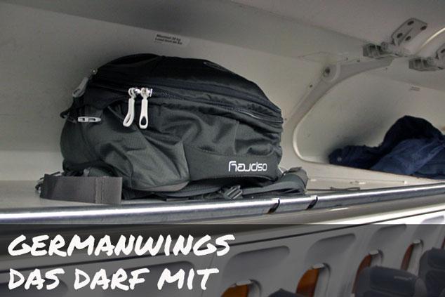 Germanwings: Das darf (NICHT) ins Handgepäck!
