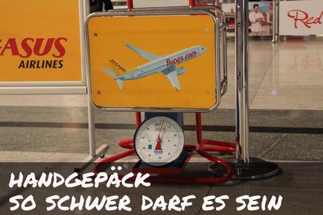 Handgepäck-Gewicht: So schwer darf das Handgepäck sein!