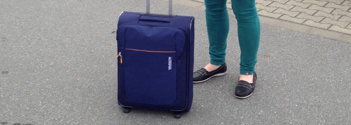 American Tourister San Francisco 55cm blau zwei Rollen