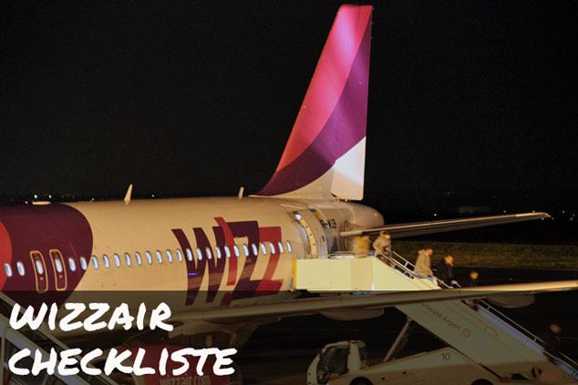 Wizzair: Die ULTIMATIVE Checkliste für das Handgepäck!