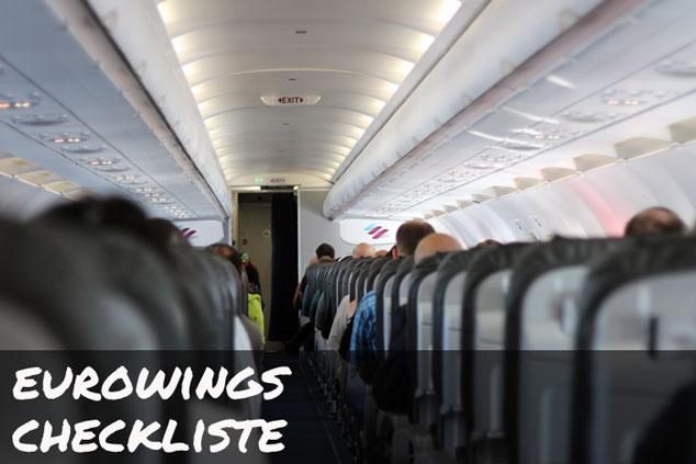 Eurowings: Die ULTIMATIVE Checkliste für das Handgepäck!