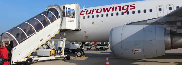 Eurowings-Logo auf Flugzeug