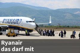 Erlaubte und verboten Gegenstände im Handgepäck bei Ryanair