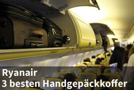 Handgepäckkoffer bei Ryanair im Flugzeug