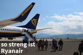 Handgepäck-Kontrolle bei Ryanair