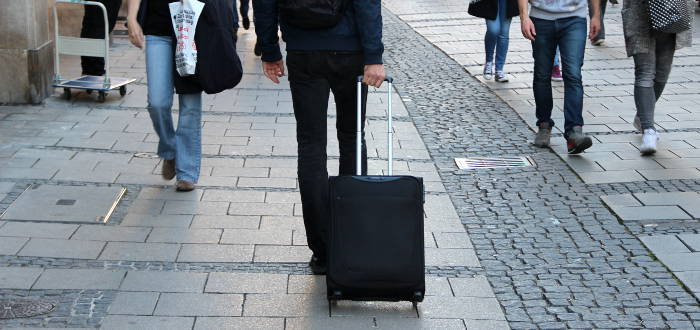 Der Sasmonite Base Hits Handgepäck-Koffer