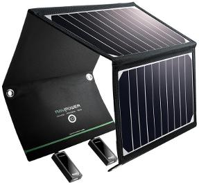 Portable Solarzelle für Powerbank im Handgepäck