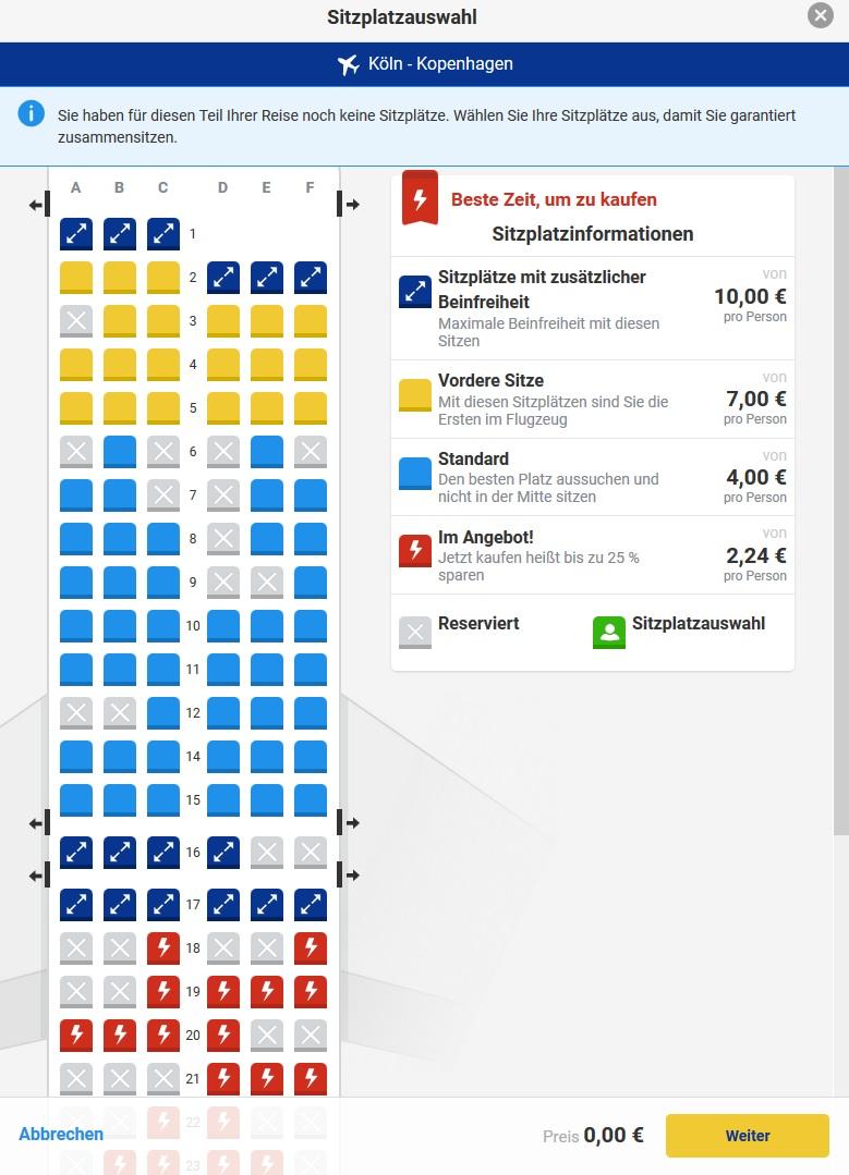 Ryanair: Alle gebührenpflichtigen Zusatzleistungen 2018 in