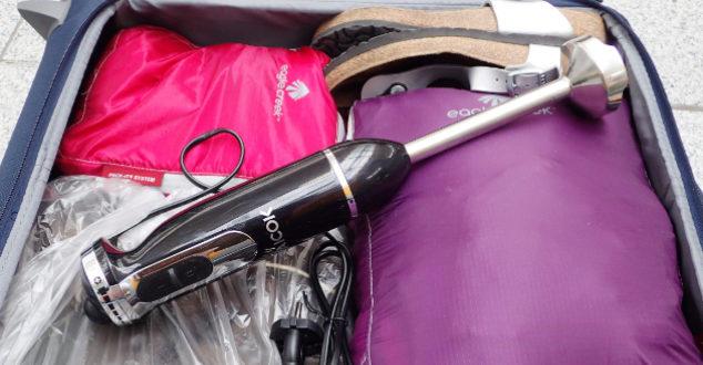 Mitnahme eines Pürierstabs ist im Handgepäck NICHT erlaubt!