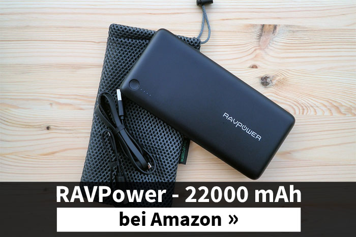 Die EC Technology Powerbank mit 22400 mAh ist im Handgepäck erlaubt.
