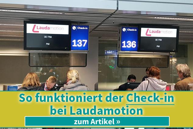 So funktioniert der Check-in bei Laudamotion
