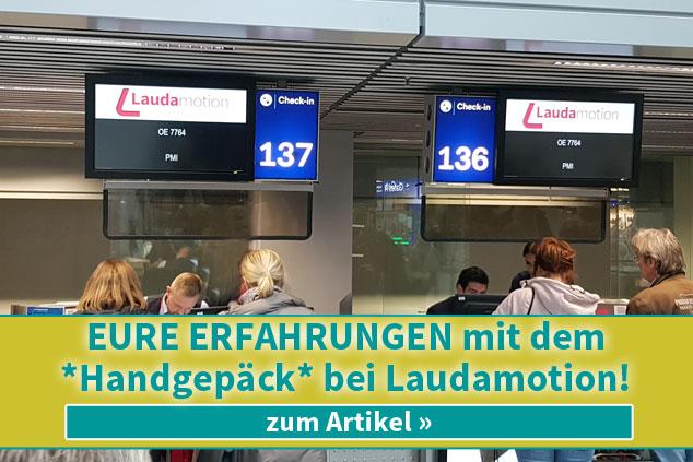 Eure Erfahrungen mit dem Handgepäck bei Laudamotion!