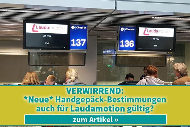 Verwirrend: Gelten neue Handgepäck-Bestimmungen auch für Laudamotion?