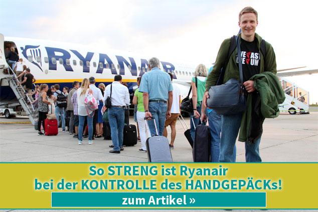 So STRENG ist Ryanair bei der KONTROLLE des HANDGEPÄCKs!
