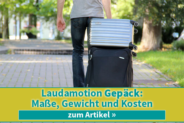 Laudamotion Gepäck: Maße, Gewicht und Kosten 2019