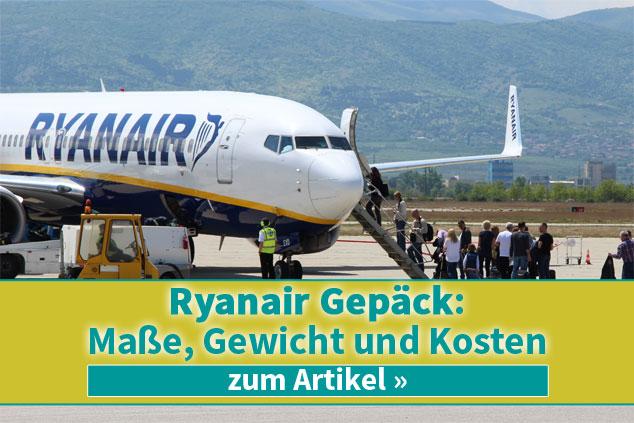 Ryanair Gepäck: Maße, Gewicht und Kosten 2019