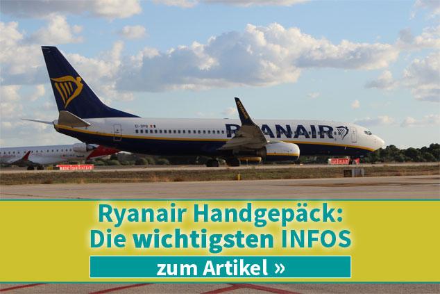 Die wichtigsten Infos zum Handgepäck bei Ryanair 2019!