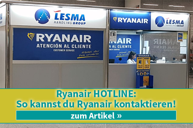 Ryanair Hotline: So kannst du Ryanair kontaktieren!